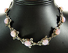 Emma Melendez Taxco Mexico Silver Glass Opal Necklace