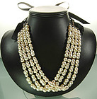 Luxe Double Cultured Pearl 14K Gold Dog Collar Necklace