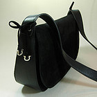 Ferragamo Black Suede Leather Gancio Small Bag Bows