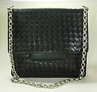 Bottega Veneta Nero Intrecciato Medium Shoulder Bag
