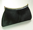 Chic 1960s Chocolate Hair Calf Convertible Clutch Bag