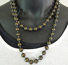 Couture Oversized Ball Bead Chain Bronze Tone Necklace