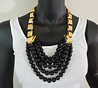 Edgy Glam 80s Yves St Laurent Ltd Edition Huge Necklace