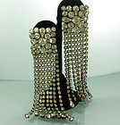 1960s Runway Shoulder Sweeping Strass Long Earrings
