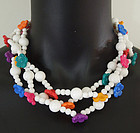 Dated 1981 Mimi di N Lucite Flowers Necklace