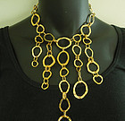 80s Cecile Jeanne Paris Runway Necklace Modernist Asymmetrical