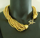 1980s Runway Couture Heavy Torsade Necklace Shell Motif Chains
