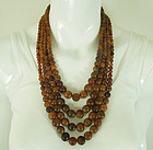 80s Monies 4 Row Horn Necklace Runway Couture Gerda Lynggaard