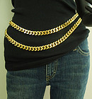 1980s Runway Statement Heavy Curb Chain Belt or Necklace