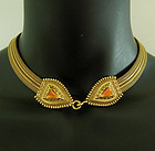 1970s Anne Klein Byzantine Style Necklace Snake Heads