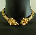 1970s Anne Klein Byzantine Style Necklace Snake Heads