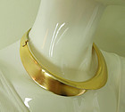 1989 Clara Studio Architectural Necklace Sculpted Modernist Style