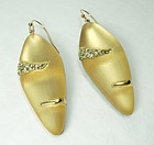 Alexis Bittar Gold Lucite Crystals Earrings Safari Stripe Statement