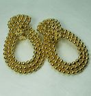 1970s Statement Earrings Studded Door Knocker Couture Runway
