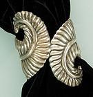 Villasana Taxco Sterling Feather Form Clamper Bracelet