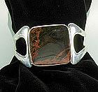 Sigi Pineda Sterling Jasper Modernist Bracelet Book Pc