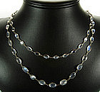 Antique Arts & Crafts Sterling Moonstone Rope Necklace