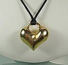 1970s Robert Lee Morris Vermeil Heart Pendant Necklace