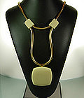 1960s Lanvin Paris Drop Snake Chain Necklace