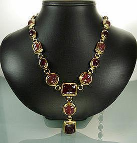 YSL Yves Saint Laurent Renaissance Style Drop Necklace