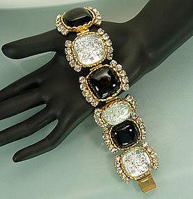 Dominique Aurientis Paris Poured Glass, Strass Bracelet
