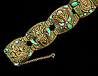 Very Big French Deco Egyptian Revival Figural Bracelet