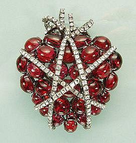Iradj Moini Wrapped Heart Pin / Pendant, After Verdura