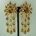 Statement Givenchy Earrings: Cognac Swarovski Stones