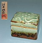 Ceramic Box by Japanese Pottery Master Kawai Kanjiro