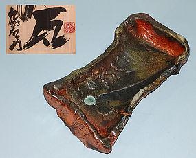 Modern Pottery Form by Kumano Kuroemon