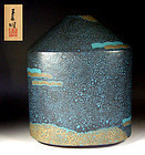 Contemporary Pottery Vase by Morino Taimei