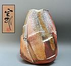 Huge Contemporary Shino Vase by Hayashi Shotaro
