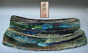 Oribe Slab by Hayashi Shotaro