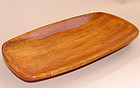 Hand Carved Chestnut Tray By Iwamoto Yasuo