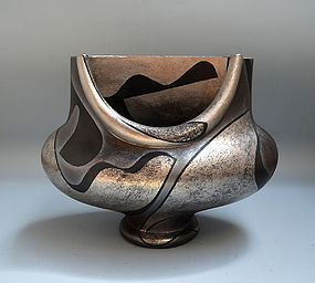 Yanagihara Mutsuo Pottery Sculpture, Silver