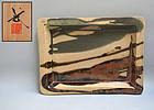 Modern Japanese pottery, Kawai Takeichi Mingei Platter