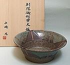 Elegant Modern Ceramic Bowl by Nishioka Midori