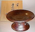 Tamba Footed Dish by Ogami Noboru