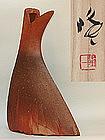 Giant Modern Bizen Sculpture Vase by Kakurezaki Ryuichi