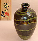 Large Tokkuri Vase by Takemoto Genhichi