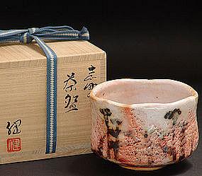 Modern Shino Chawan by Kato Takeshi
