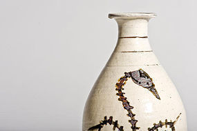 Japanese Mingei Tokkuri (Sake bottle) or flower vase