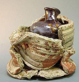 Spectacular Japanese Vase by Artist Ando Minoru