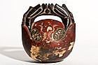 Very old Mokugyo (Wooden Fish) Buddhist Bell
