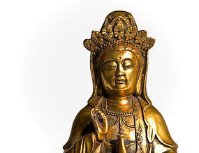 Antique Bronze Kwan Yin (Guan Yin) China 18th. cent.