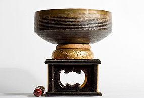 Buddhist Bronze Bell from 1860 Temple S¨fuku-ji