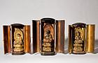 Three Edo Period Buddha Statues ( travel shrines )