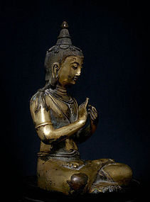 Chinese Qing Dynasty Bronze Buddha with Mark