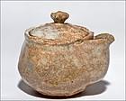 Old Oni Hagi Hobin Tea Pot 19th century with sign