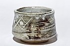 Momoyama / early Edo Period Grey Shino-Oribe Chawan